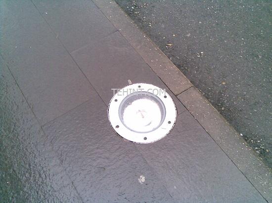 светильник в тротуарной плитке пример